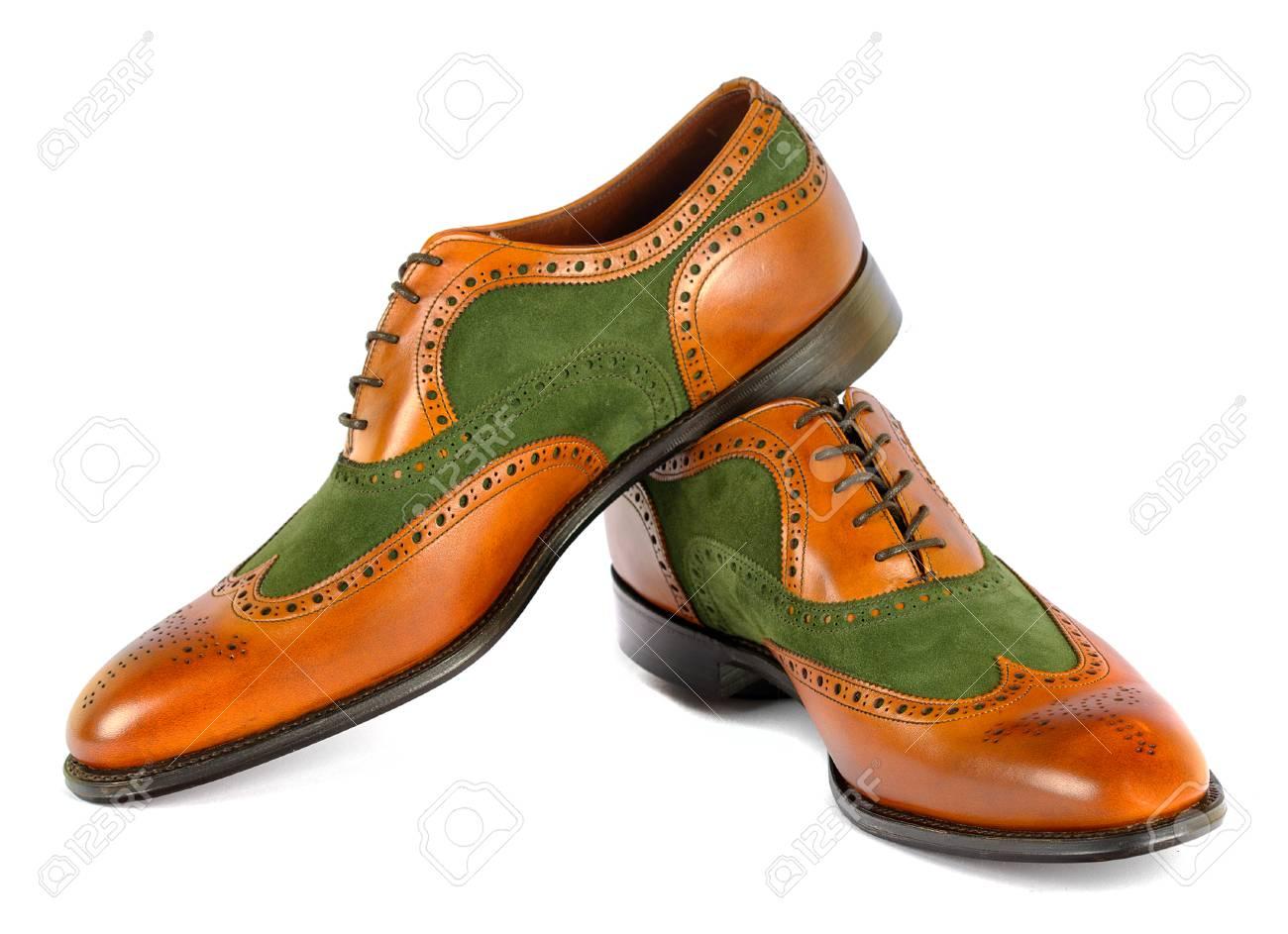 Men's Spectator Style Dress Shoes