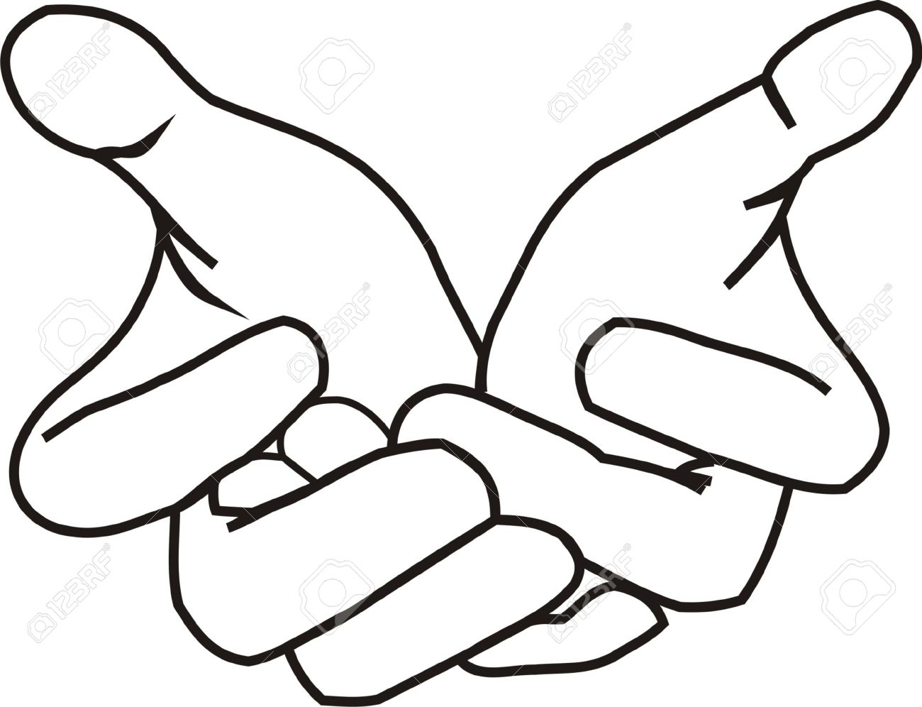 giving hands lineart royalty free cliparts vectors and stock rh 123rf com Hand Clip Art giving hands vector image