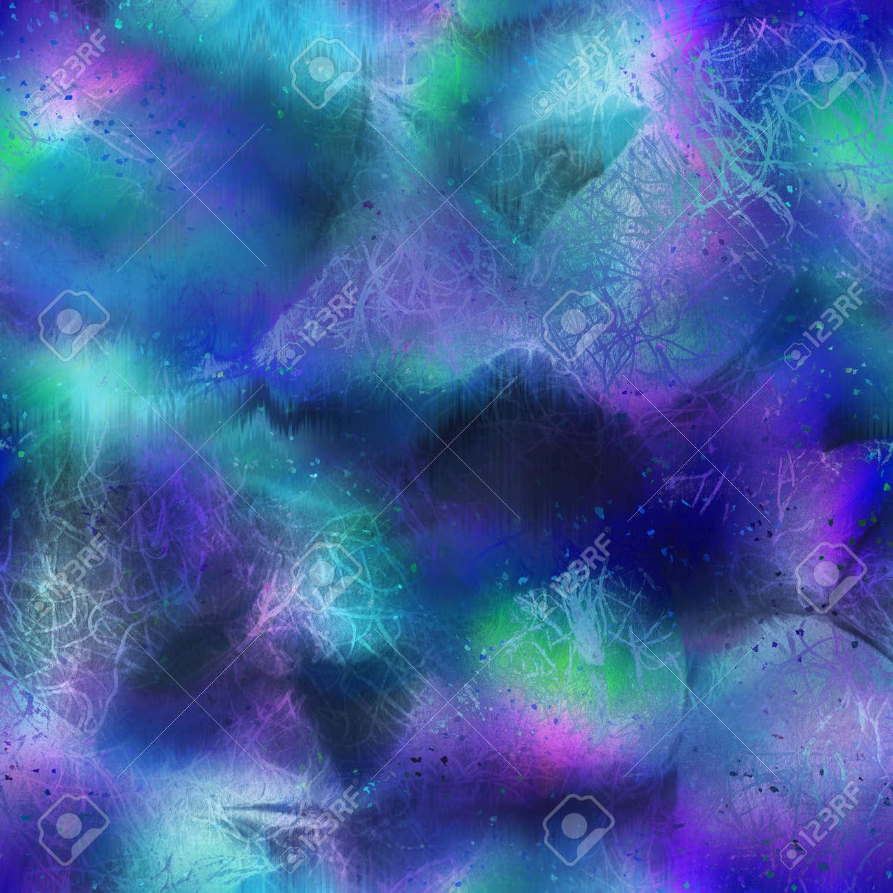 Seamless iridescent rainbow light pattern for print - 169617336