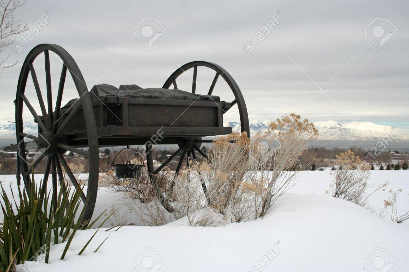 pioneer hand cart stock photo