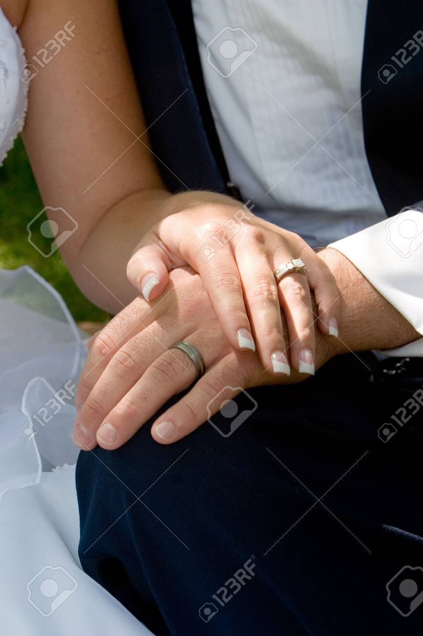 the couple displays the rings Stock Photo - 305229