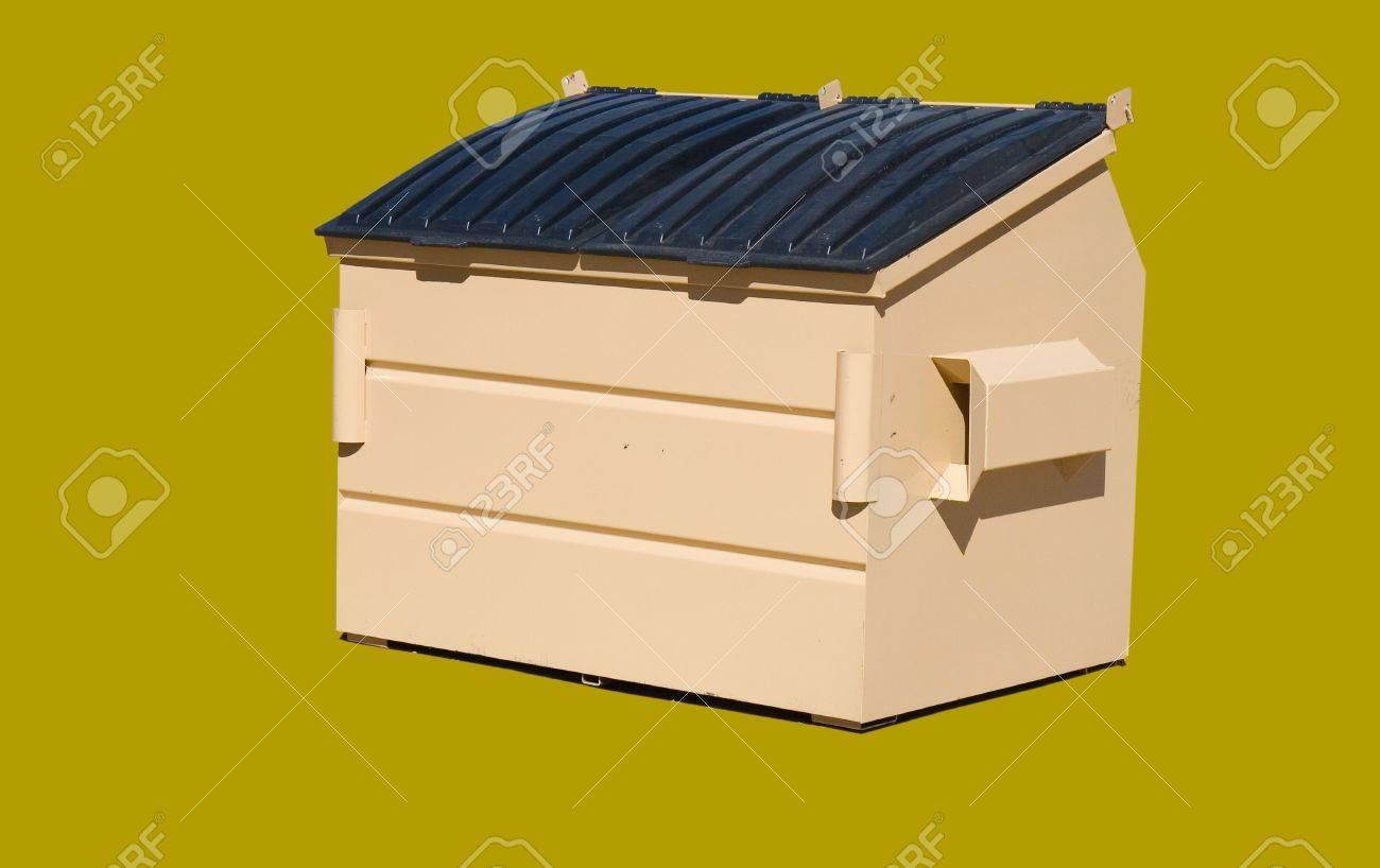 緑の茶色色の分離 4 立方ヤード ゴミ箱 の写真素材・画像素材 Image ...