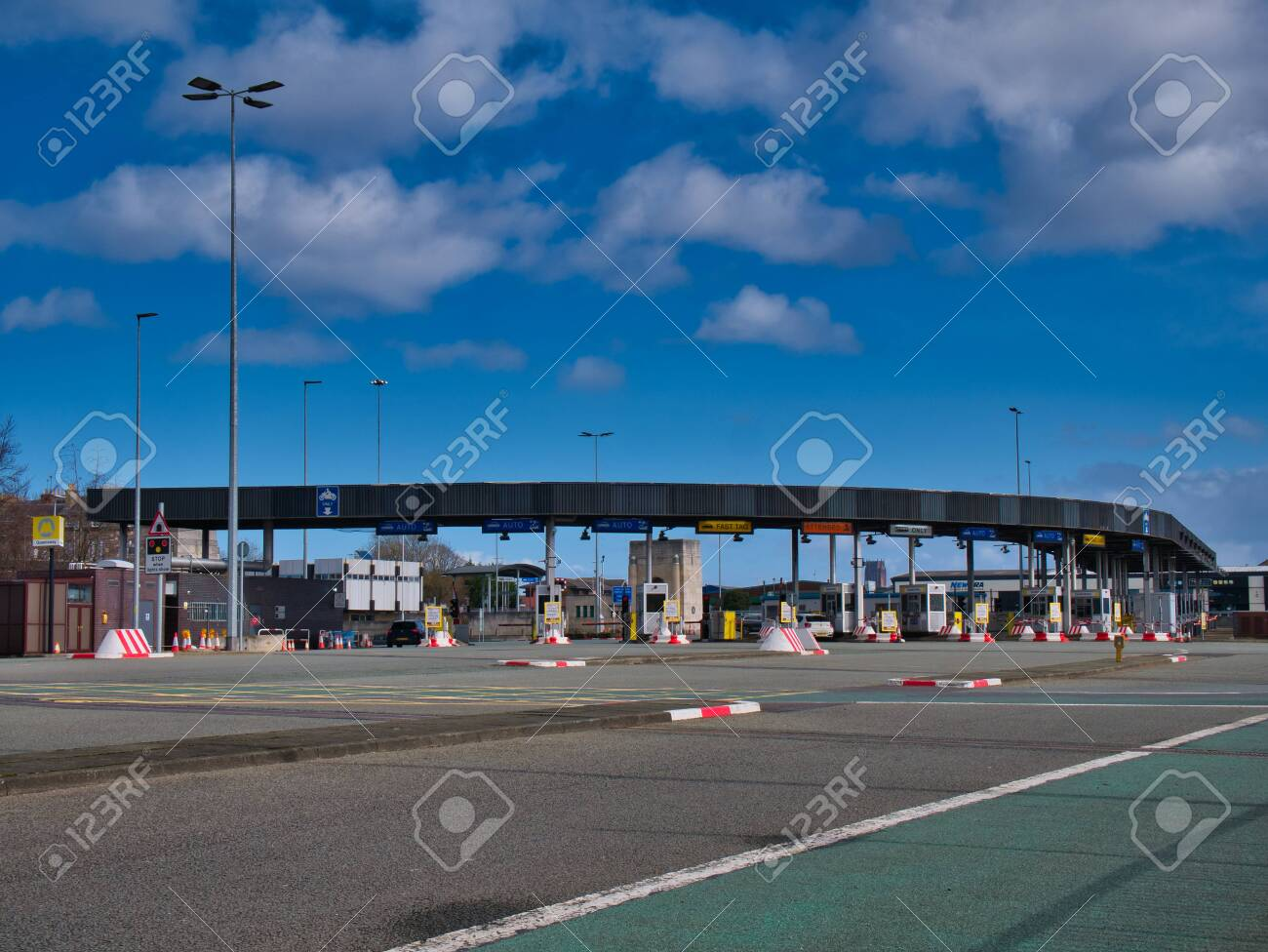 The Toll Plaza At The Birkenhead Side Of The Queensway Tunnel Stock Photo Picture And Royalty Free Image Image 141722074