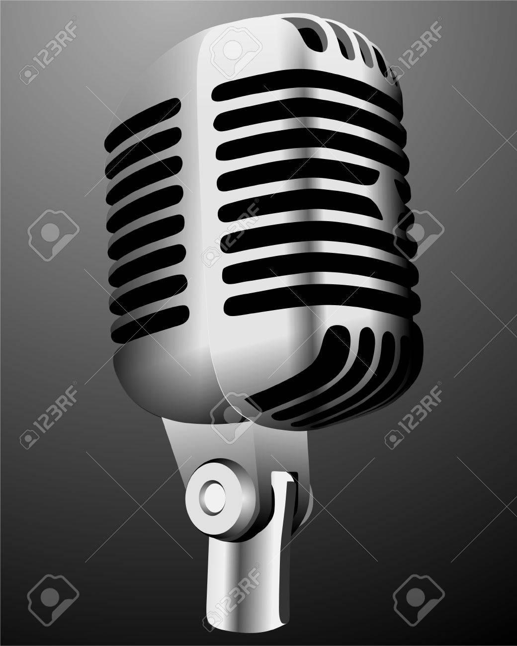 Vintage microphone Stock Vector - 7570137