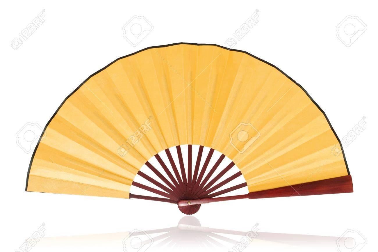 chinese fan clipping path stock photo picture and royalty free