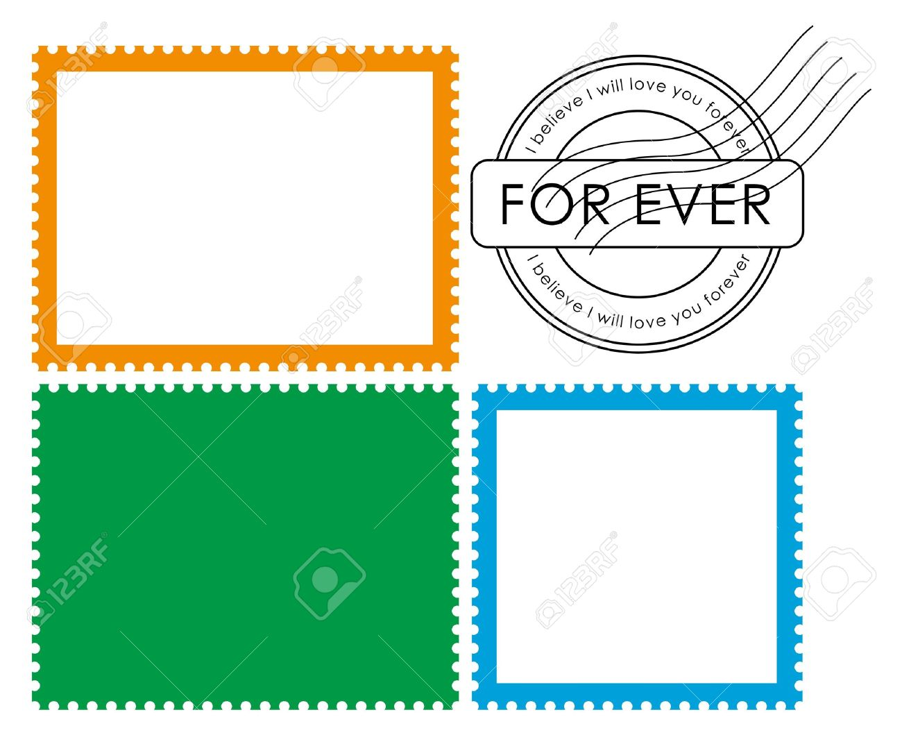 Blank postage stamp-Vector - 13034929