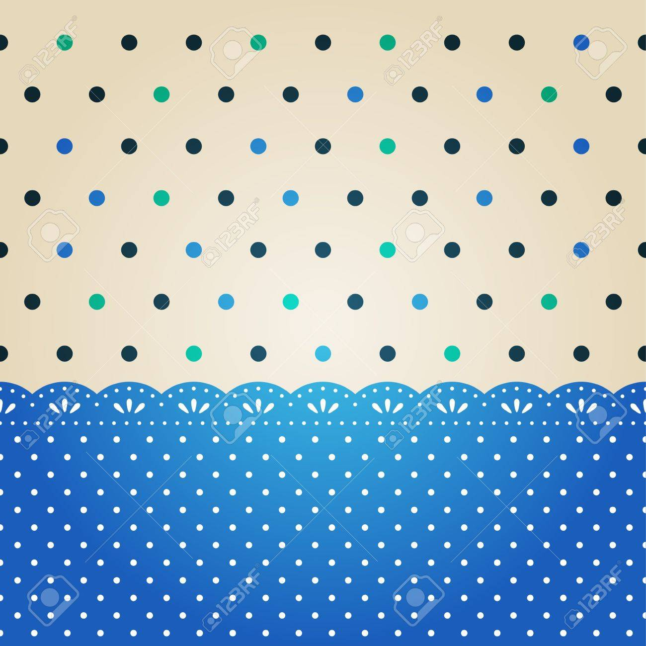 Pretty Polka Dots Backgrounds Vector Polka Dot Background