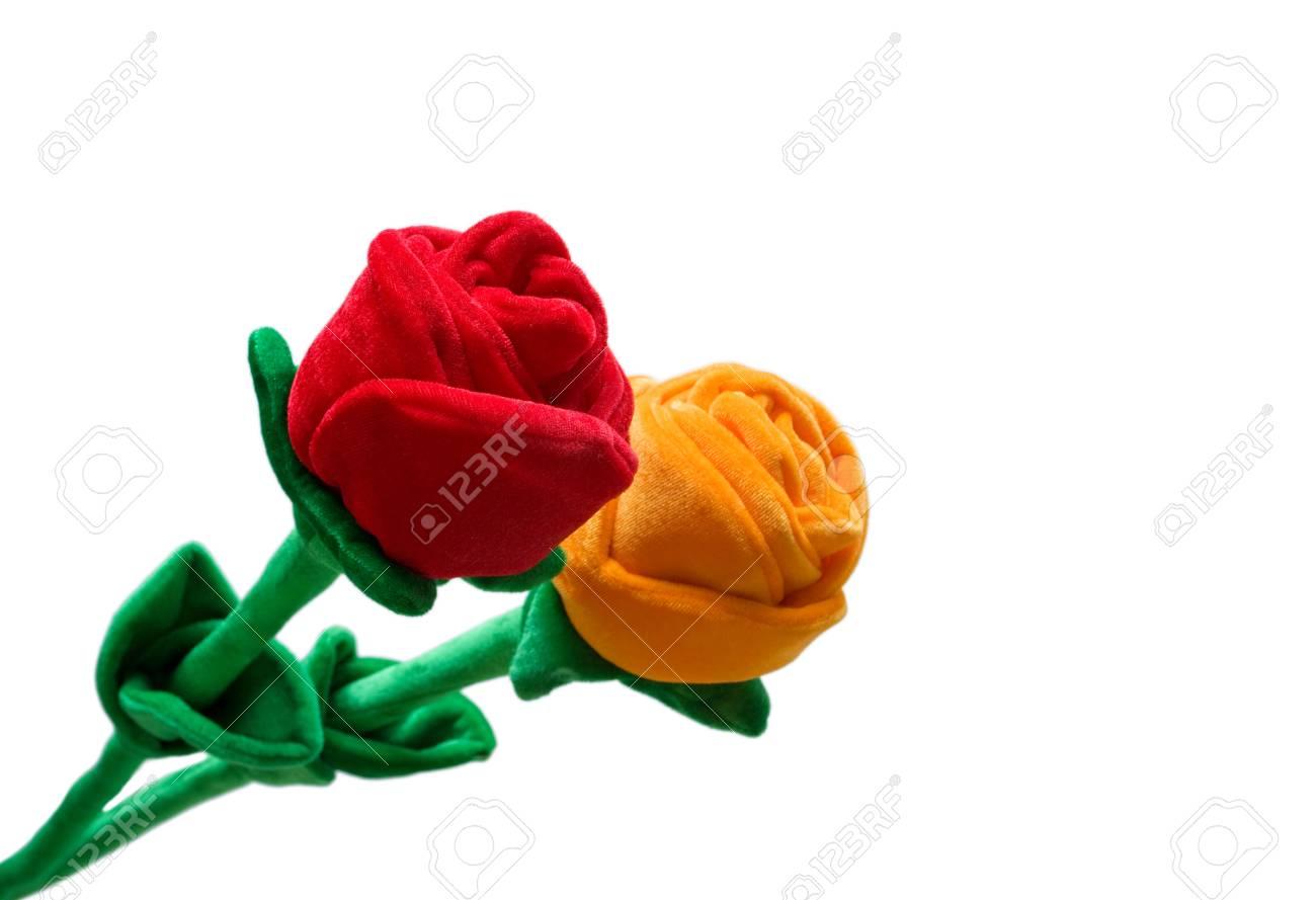 Fabric Roses Stock Photo - 15729610