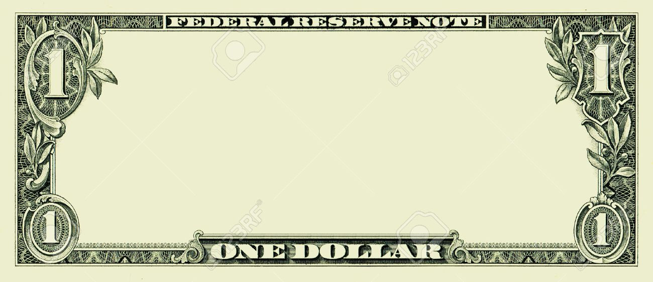 Blank One Dollar Bill Stock Photo, Picture And Royalty Free Image ...