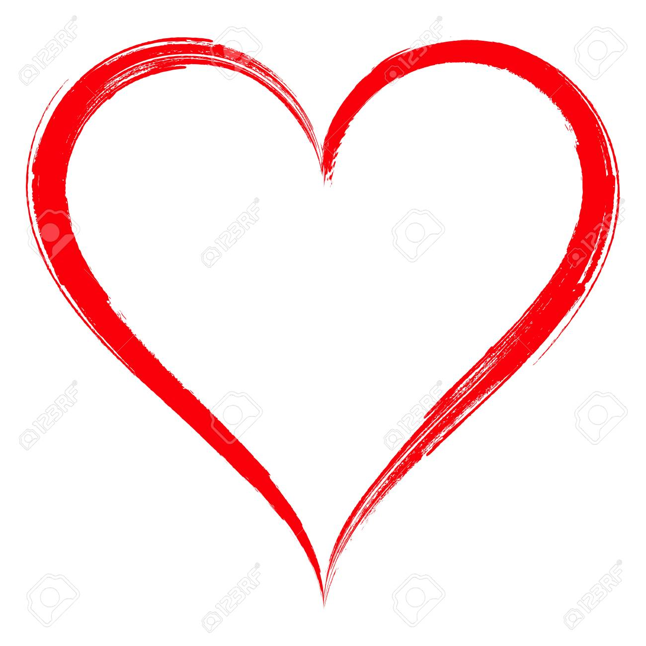 heart shape frame with brush painting isolated on white background rh 123rf com vector heart shaped lighter repair vector heart shape free