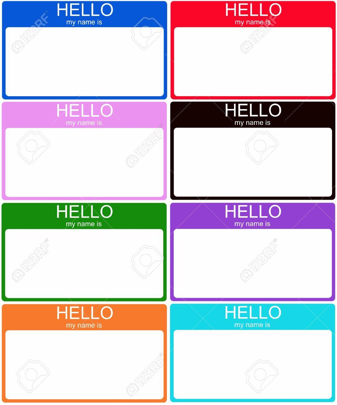 Zestaw 8 Kolorowych Hello My Name Is Metek Naklejki W Kolorze Niebieskim Czerwony RA3A 1 4 Owy