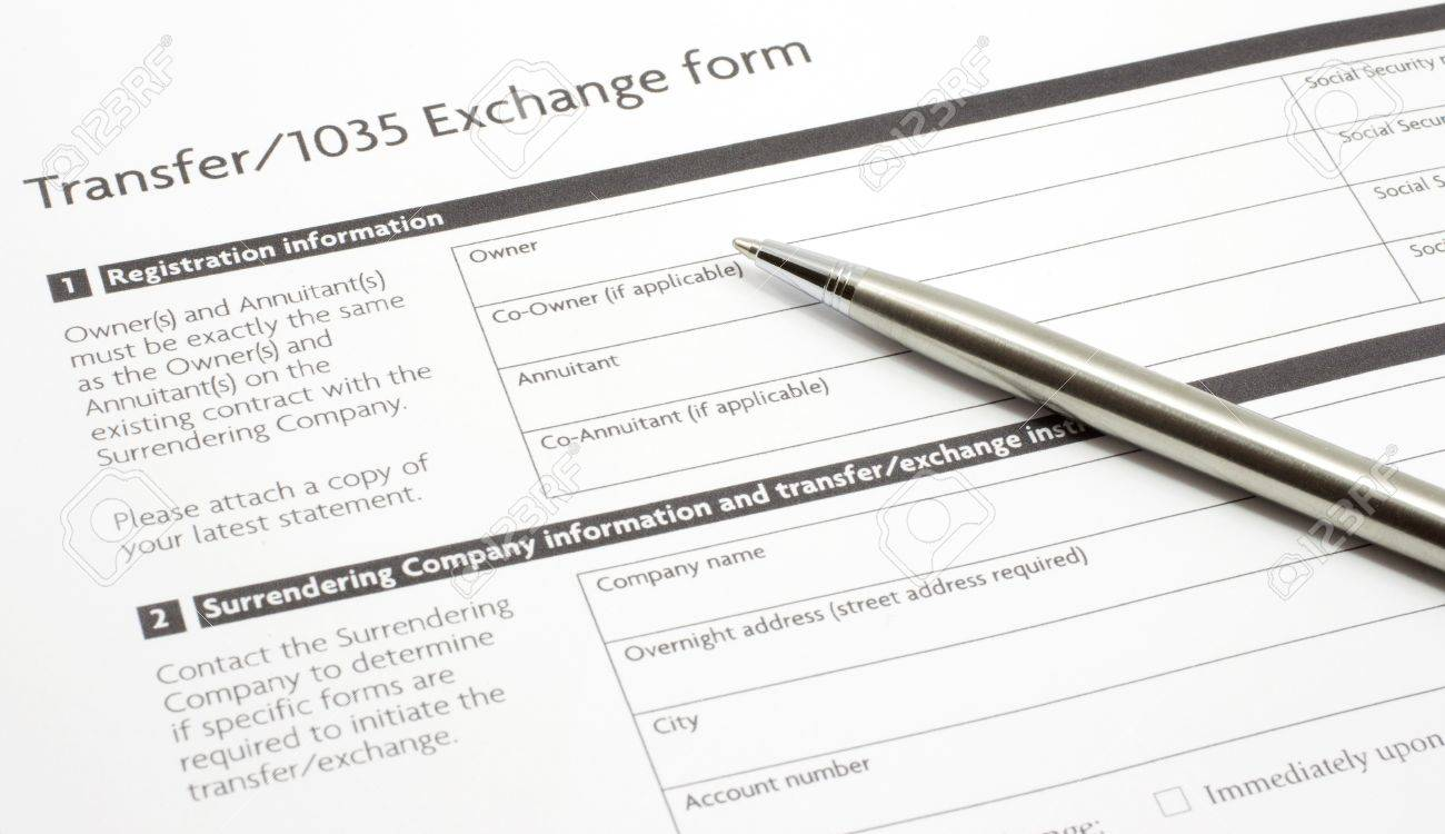 an annuity or investment section 1035 exchange paper form waiting