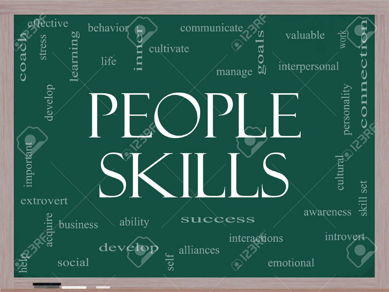 people skills word cloud concept on a blackboard great terms people skills word cloud concept on a blackboard great terms stock photo 14742677