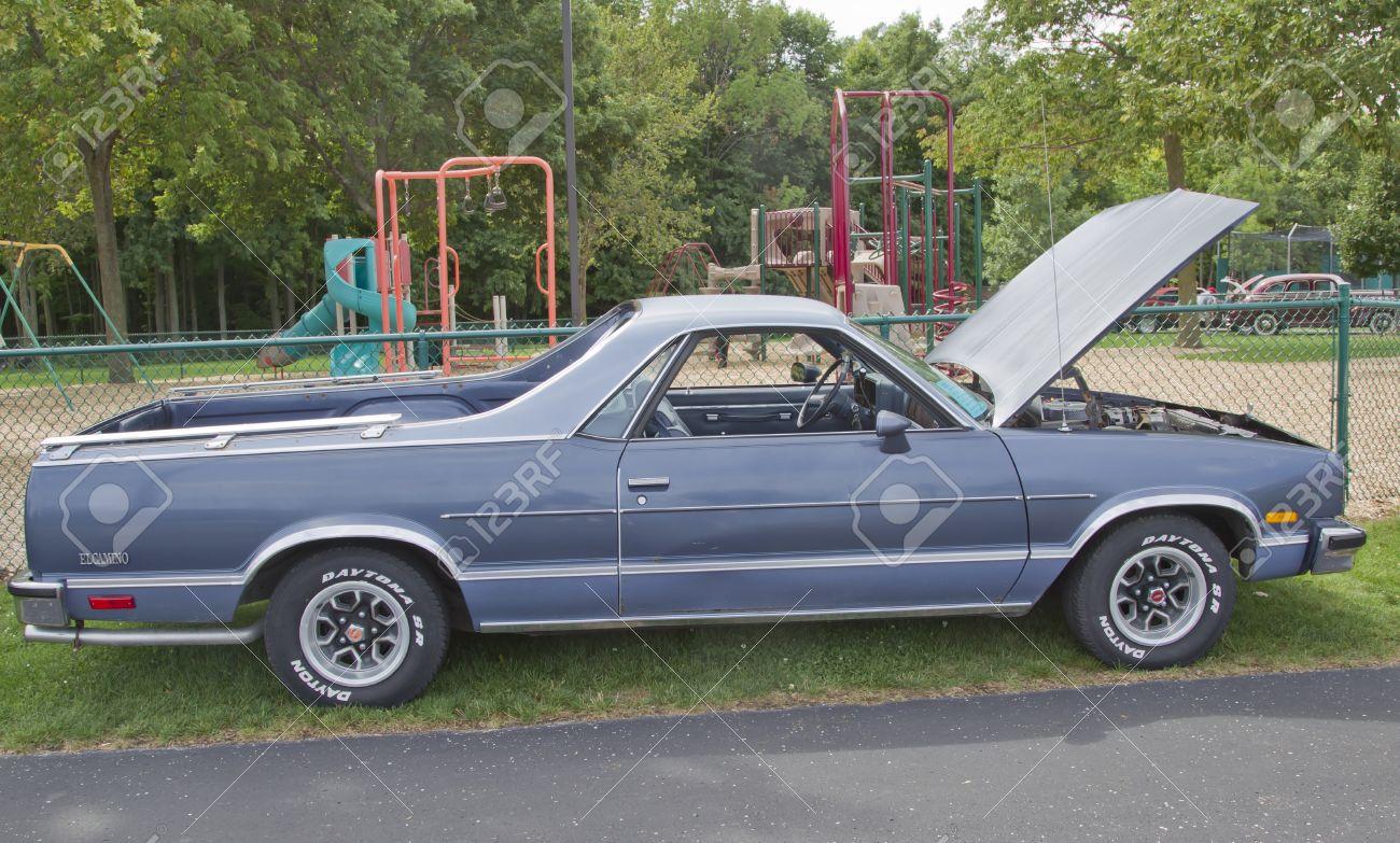 COMBINED LOCKS, WI - AUGUST 18: Bluish 1983 Chevy El Camino ...