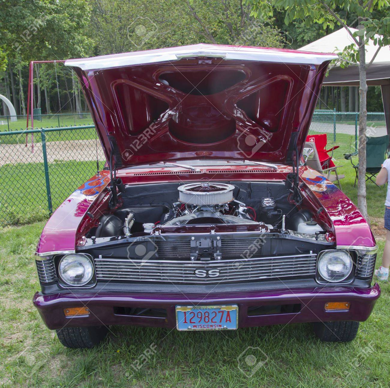 Combined Locks Wi August 18 Front View Of A Purple 1969 Chevy