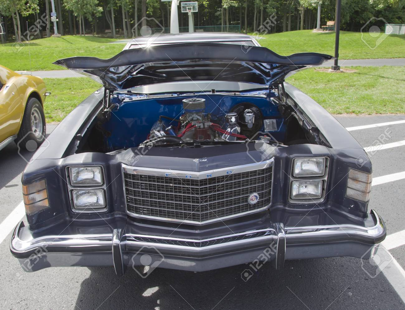 COMBINED LOCKS, WI - AUGUST 18: Front of a 1979 Ford Ranchero