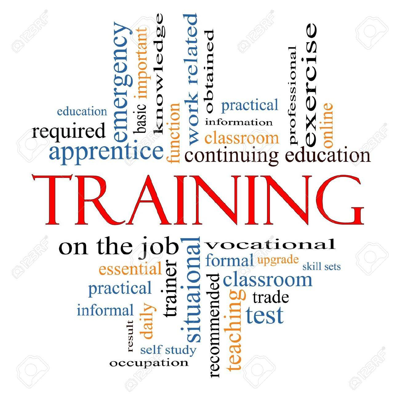 training word cloud concept great terms such as classroom training word cloud concept great terms such as classroom education trade vocational