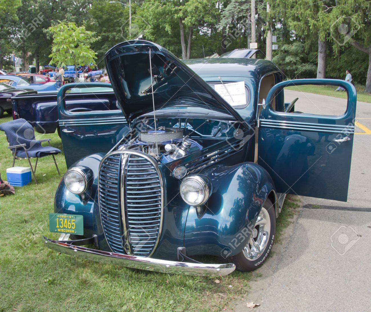 Waupaca Wi August 25 1938 Ford Pickup Truck At The 10th Annual 1955 F100 Vector Stock Photo Rod Classic Car Club Show On 2012 In