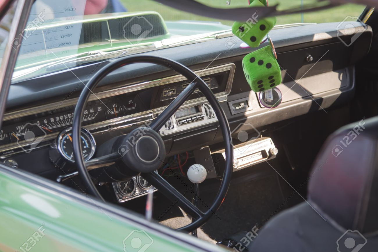 Marion Wi September 16 Interior Of 1969 Dodge Dart Car At Stock Photo Picture And Royalty Free Image Image 15486157