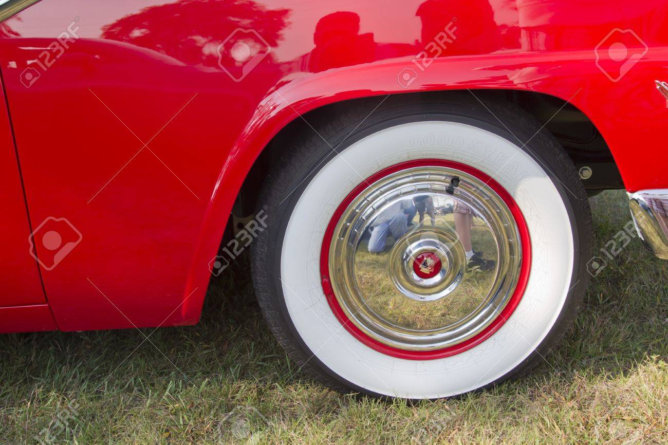 marion wi september 16 white wall tires on red u0026amp white ford