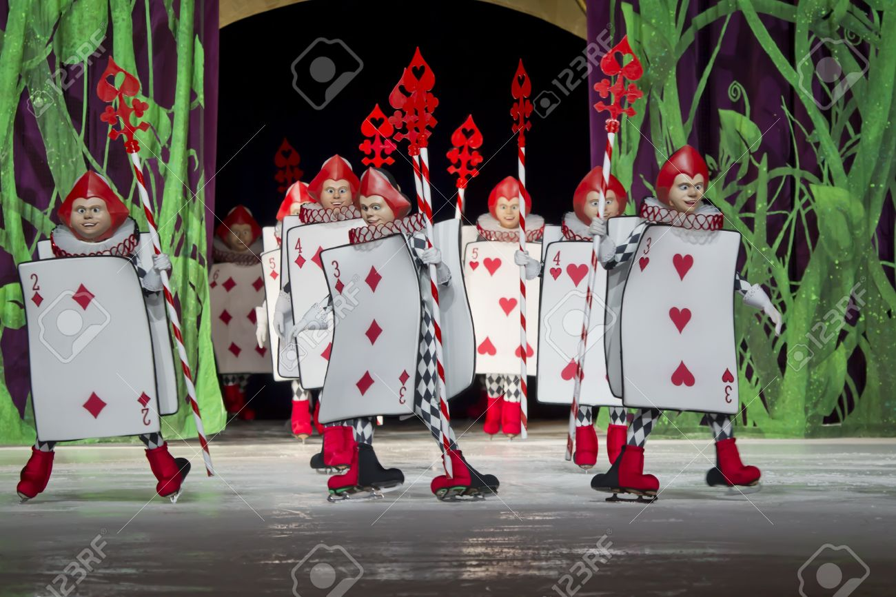 green bay wi march 10 card soldiers from alice in wonderland