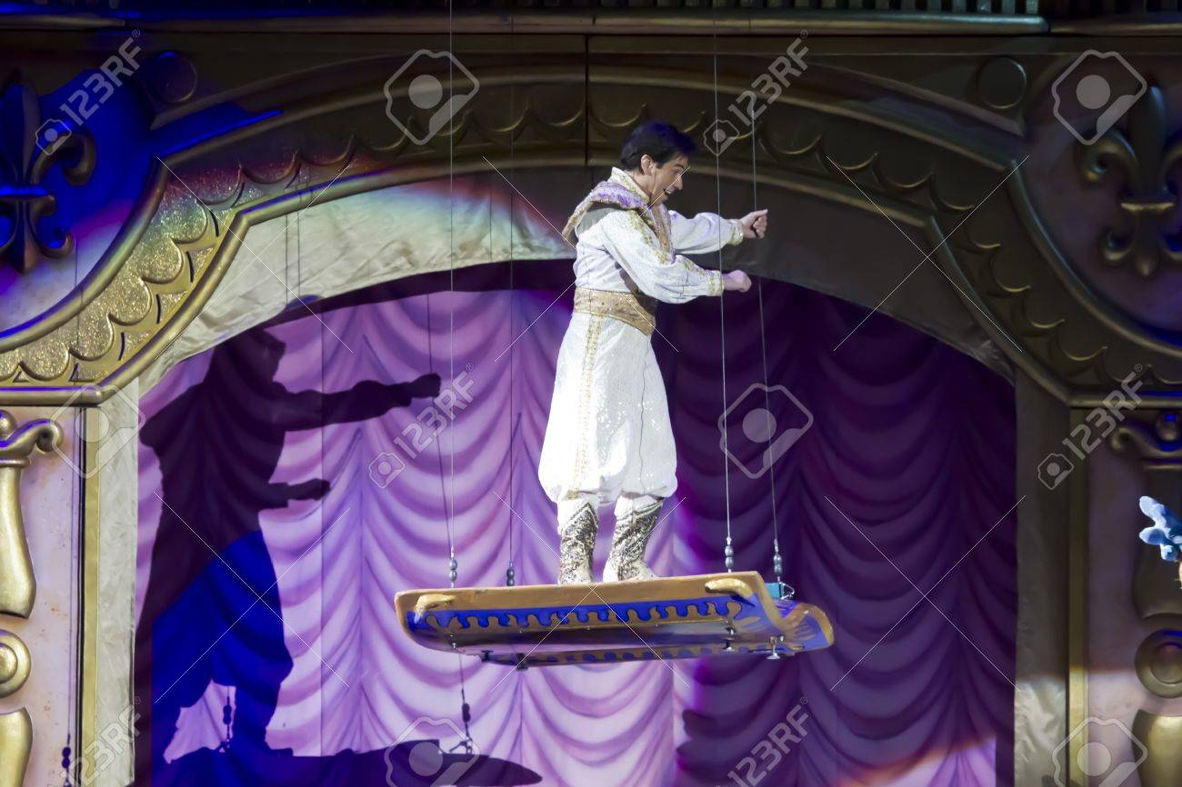 GREEN BAY, WI - MARCH 10: Aladdin and the Magic Carpet from Aladdin at