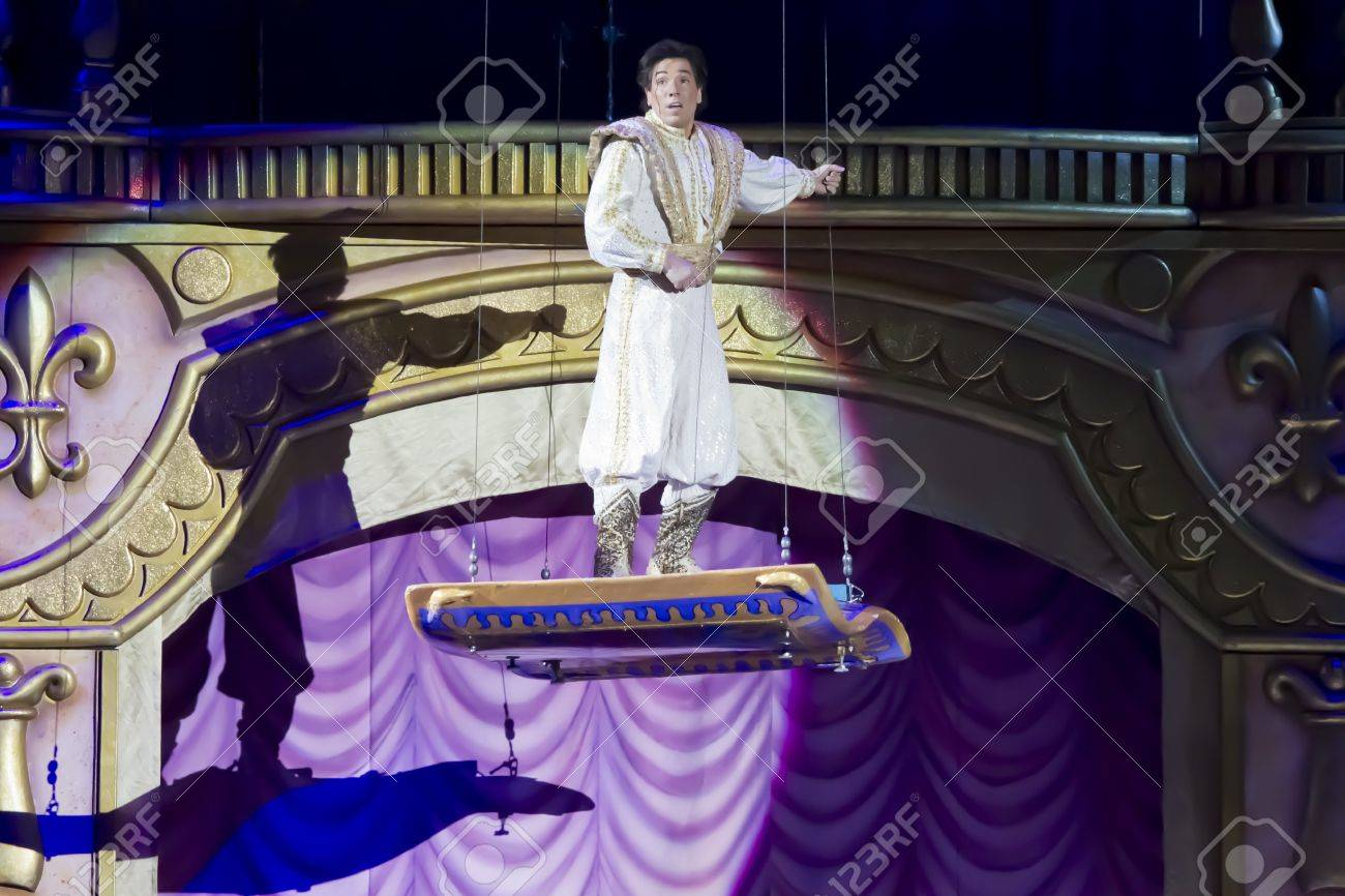 GREEN BAY, WI - MARCH 10: Up high Aladdin and the Magic Carpet from