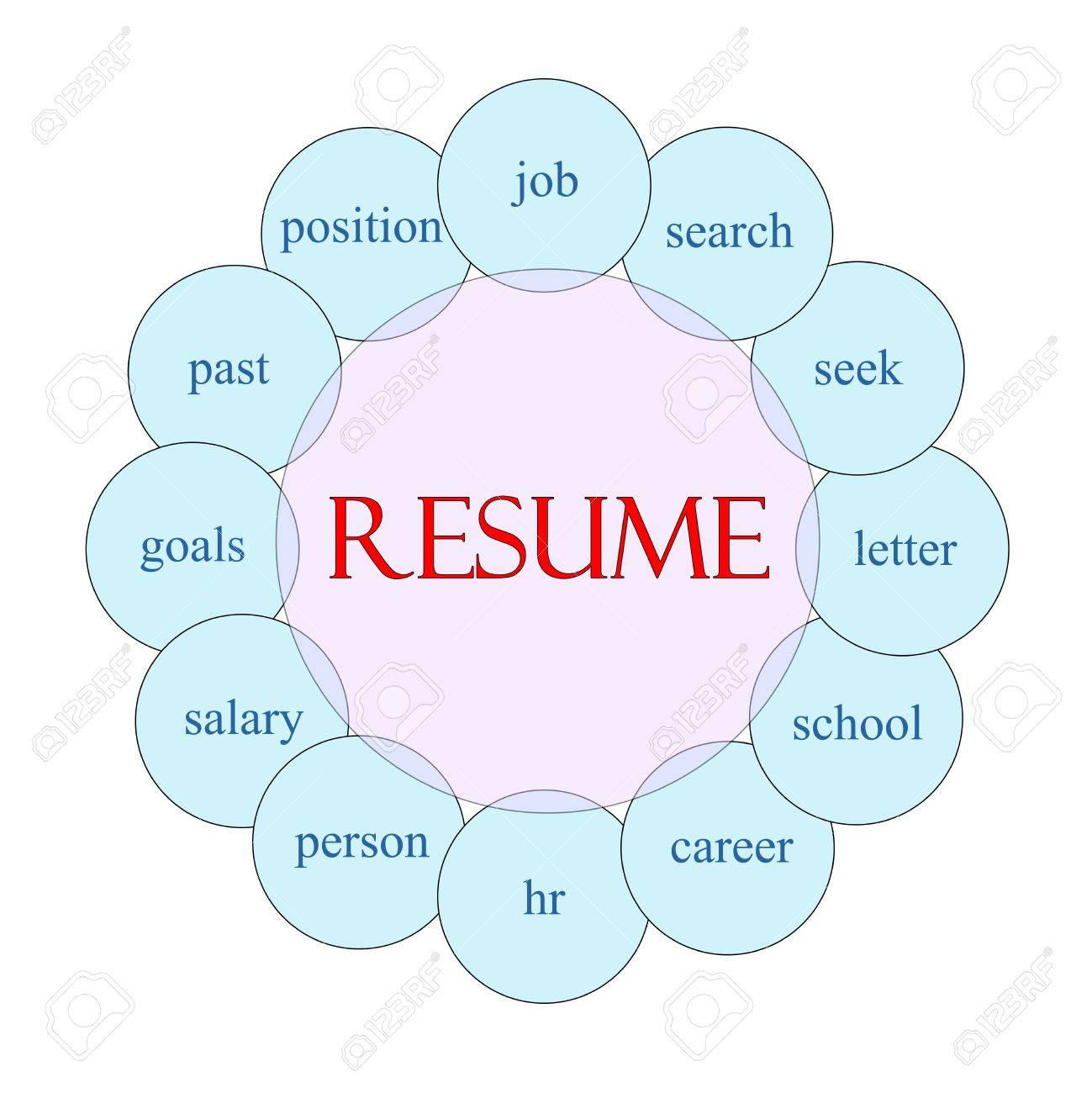 resume concept circular diagram in pink and blue great terms resume concept circular diagram in pink and blue great terms such as job search