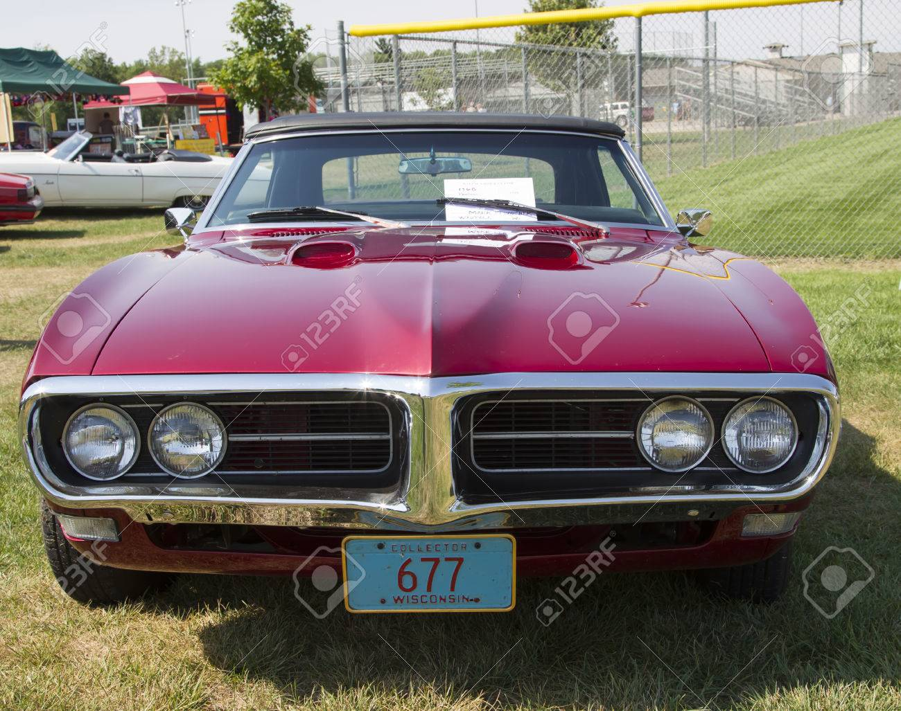 WAUPACA, WI - AUGUST 24: Front of 1968 Pontiac 400 Convertible