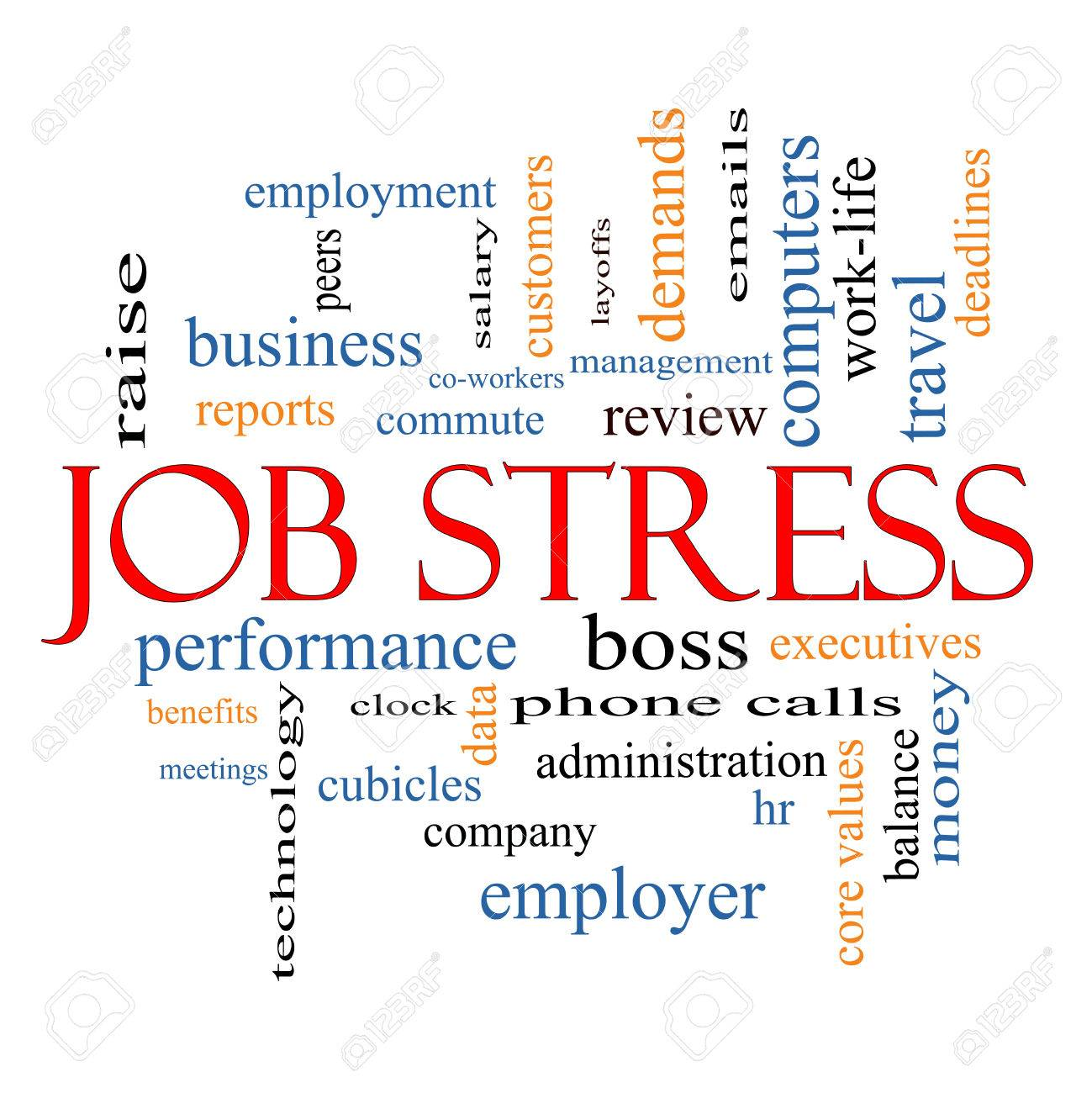 job stress word cloud concept great terms such as boss job stress word cloud concept great terms such as boss commute meetings