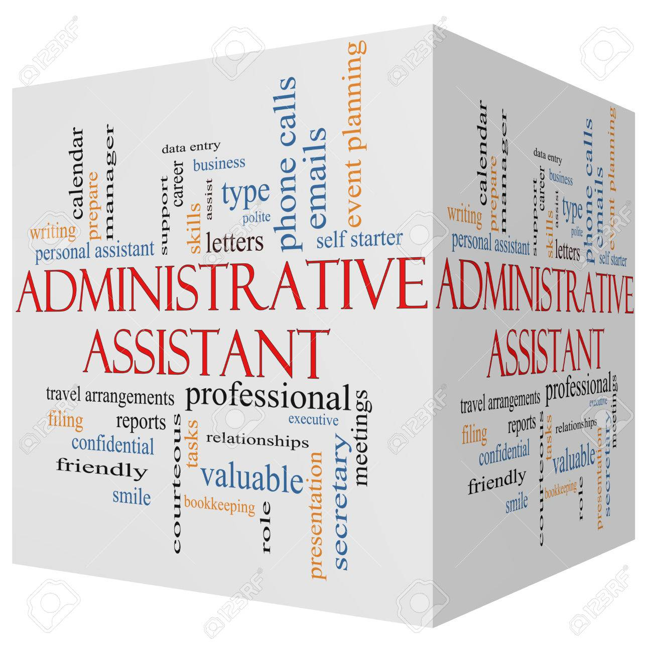 administrative assistant images stock pictures royalty administrative assistant administrative assistant 3d cube word cloud concept great terms such as professional