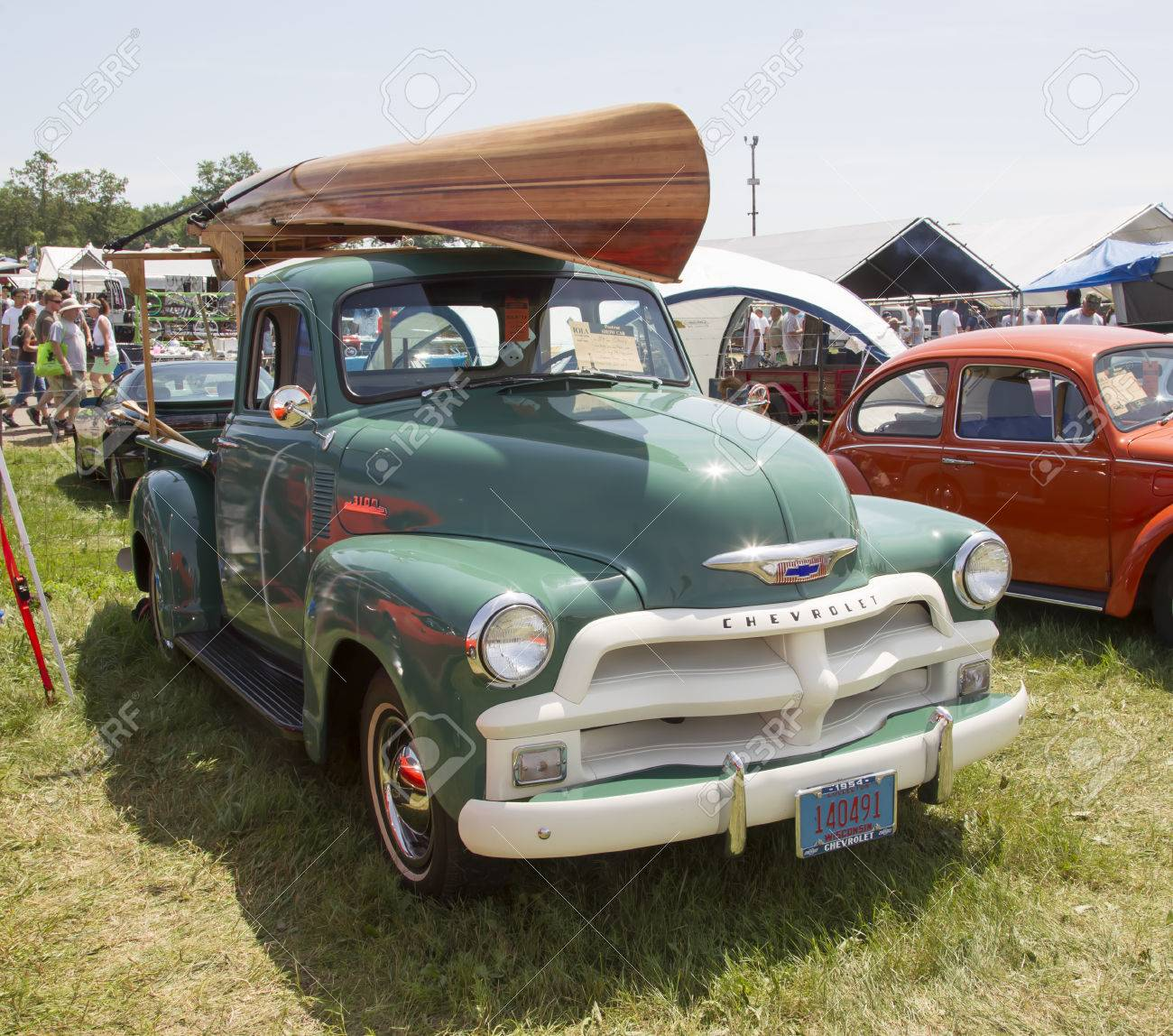 Iola Wi July 13 1954 Chevy 3100 Pickup Truck With Wooden Stock Photo Picture And Royalty Free Image Image 25542531