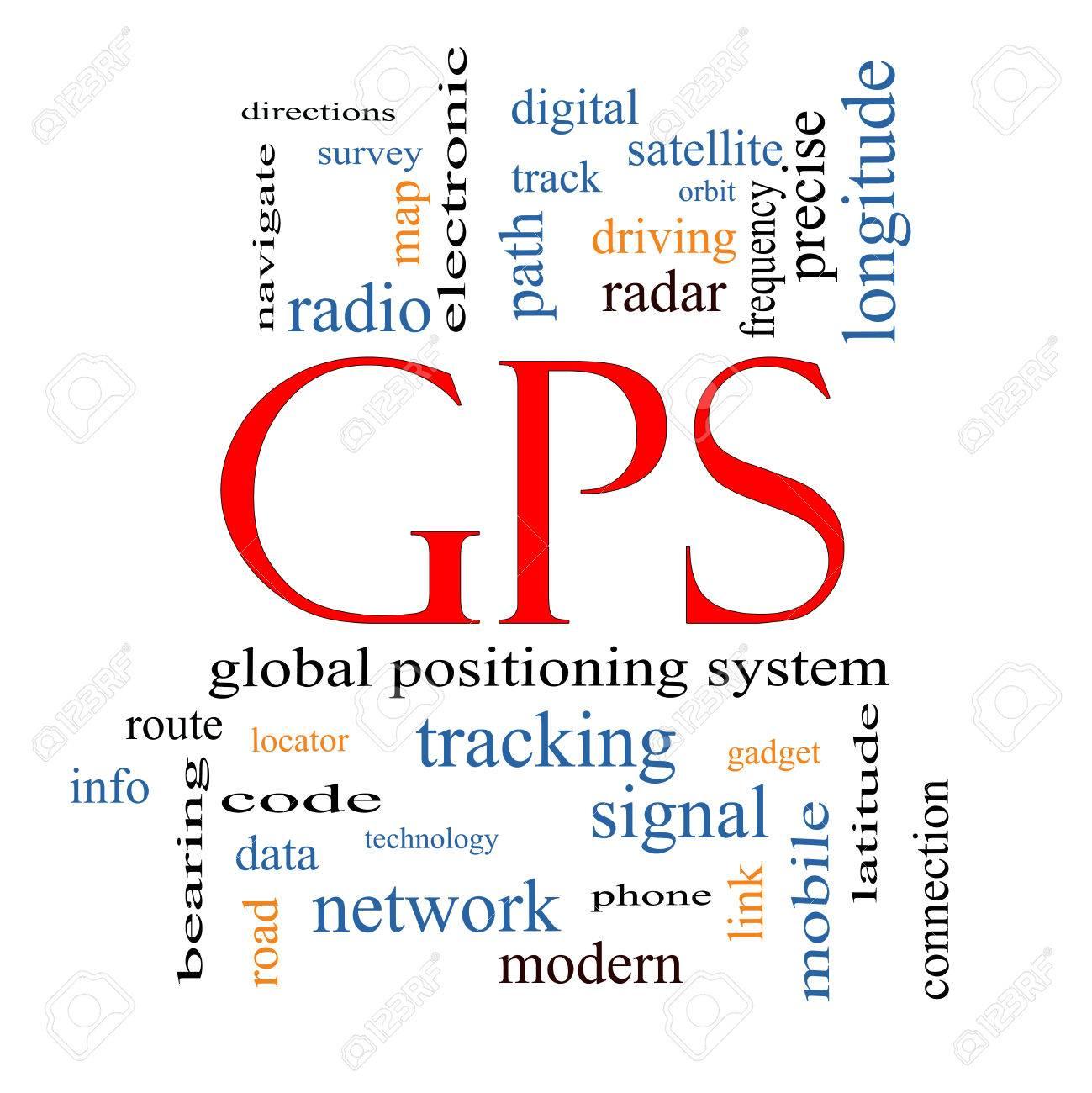 GPS 単語クラウド コンセプト グローバル ポジショニング システムなど ...