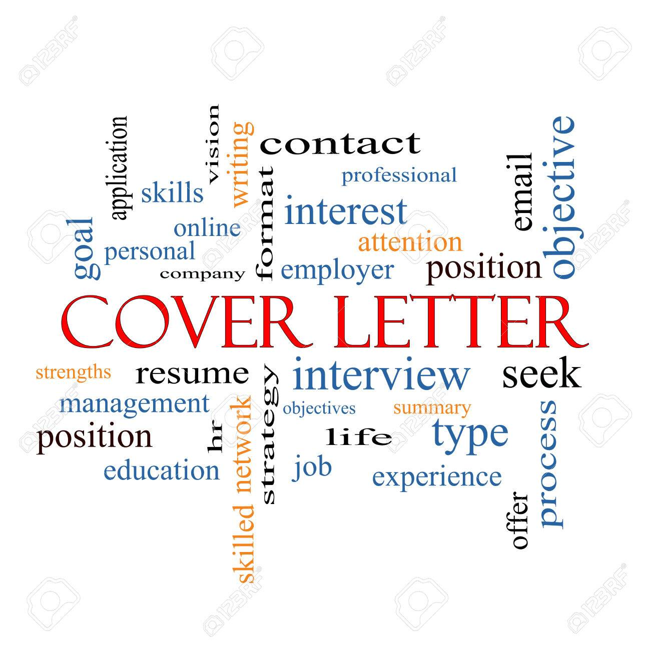 Cover Letter Word Cloud Concept With Great Terms Such As Interview – Interview Cover Letter