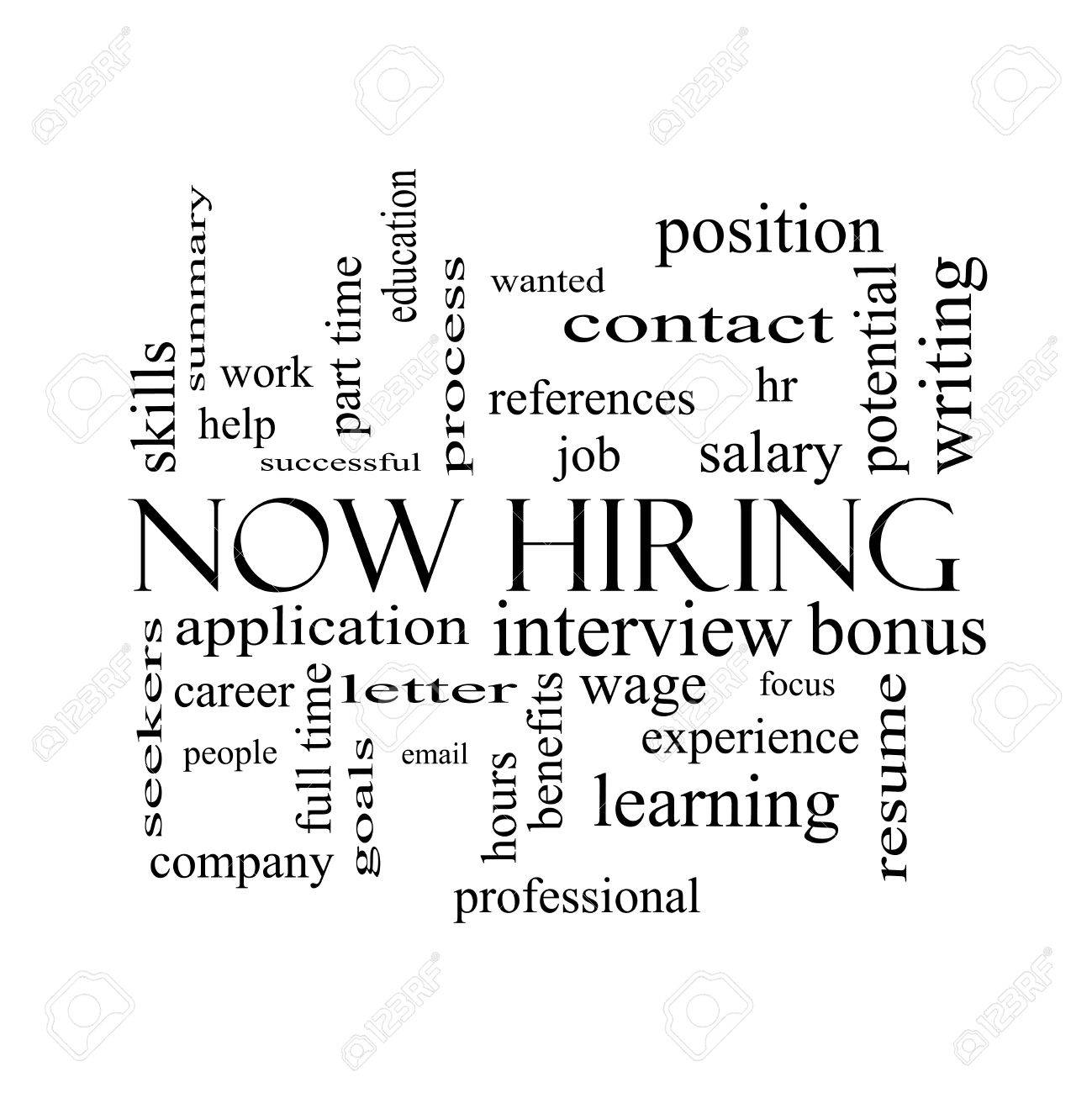 now hiring word cloud concept in black and white great terms now hiring word cloud concept in black and white great terms such as resume