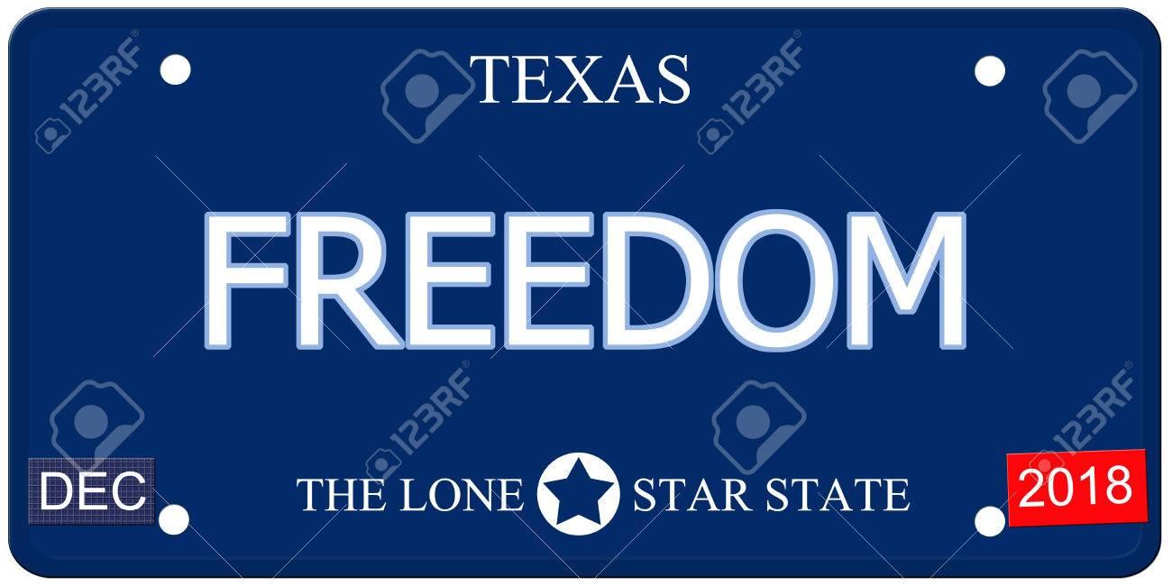 Eine Gefälschte Nachahmung Texas-Kfz-Kennzeichen Mit Dem Wort ...