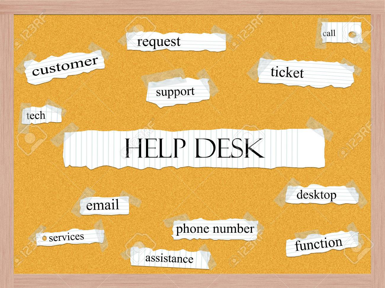 help desk corkboard word concept great terms such as request help desk corkboard word concept great terms such as request ticket support and