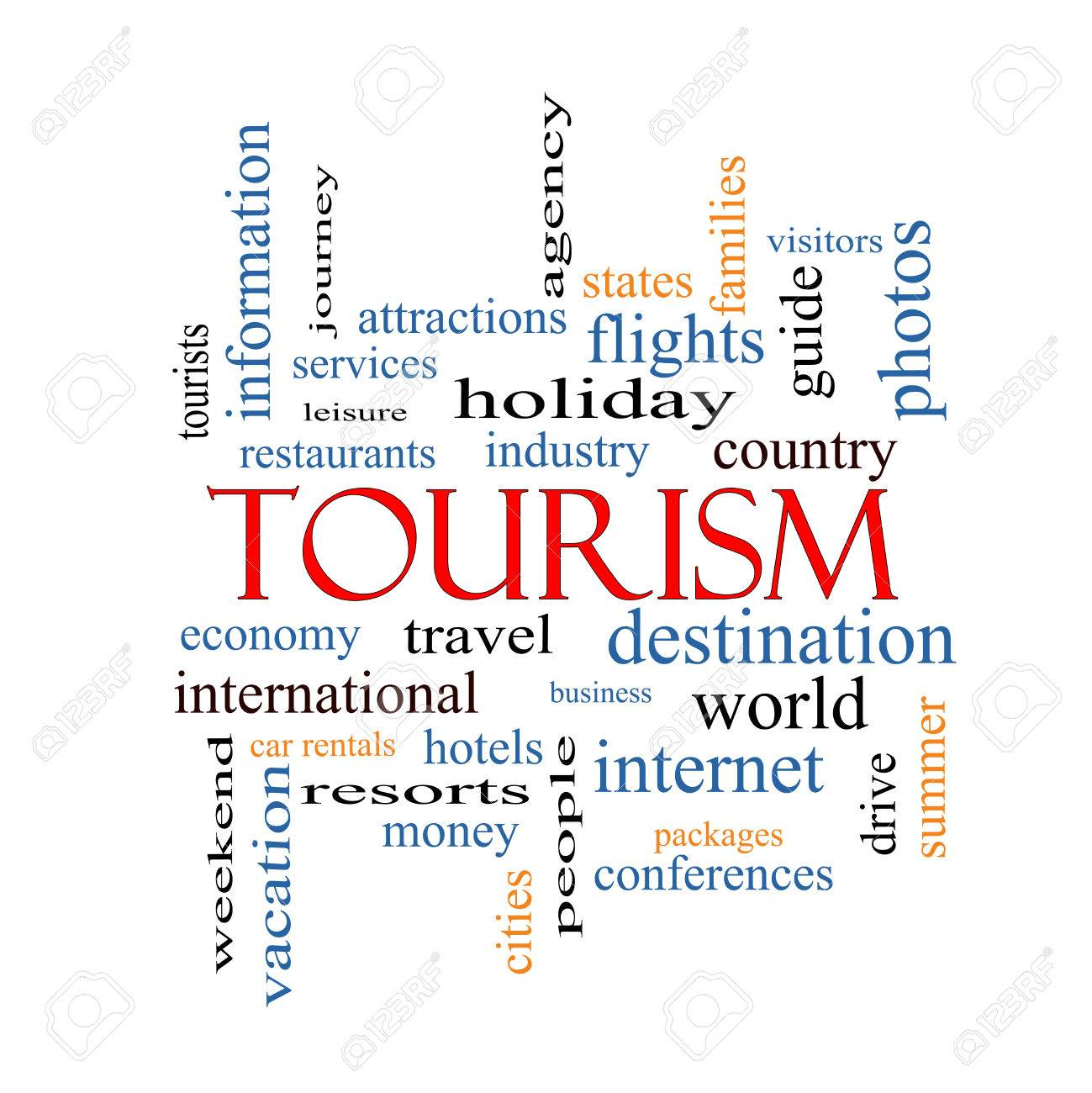 Tourism Word Cloud Concept with great terms such as travel, industry, world and more. Stock Photo - 27553830