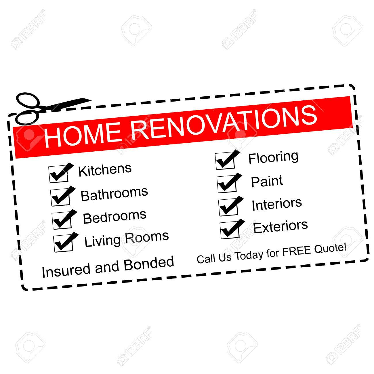 Home Renovations Red Coupon With Great Terms Such As Kitchens, Bathrooms,  Quote And More