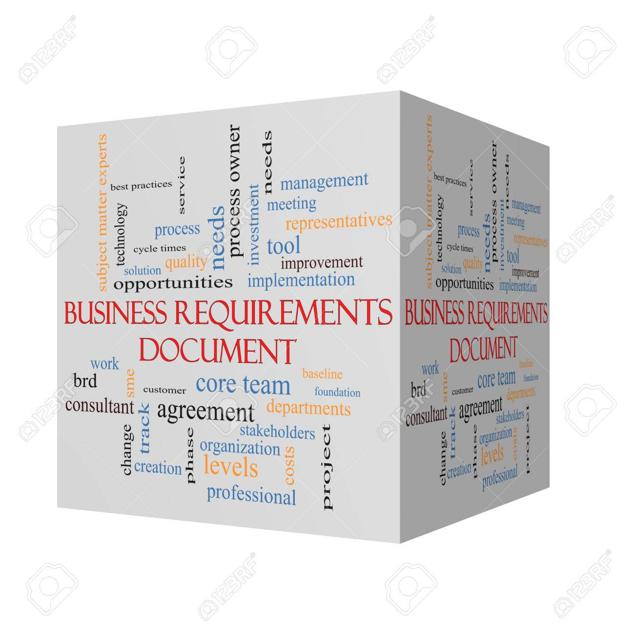 Business Requirements Document 3D Cube Word Cloud Concept With – Business Requirement Document