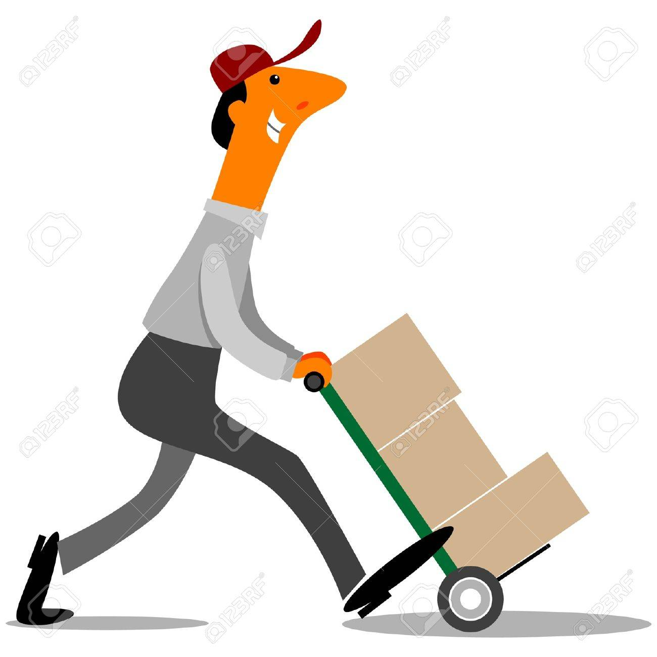 delivery driver delivering boxes royalty free cliparts, vectors, and