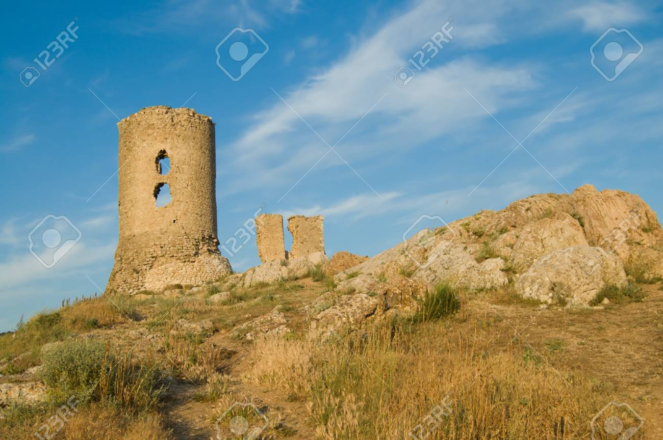 Balaclavas castle on blue sky background Stock Photo - 4034889