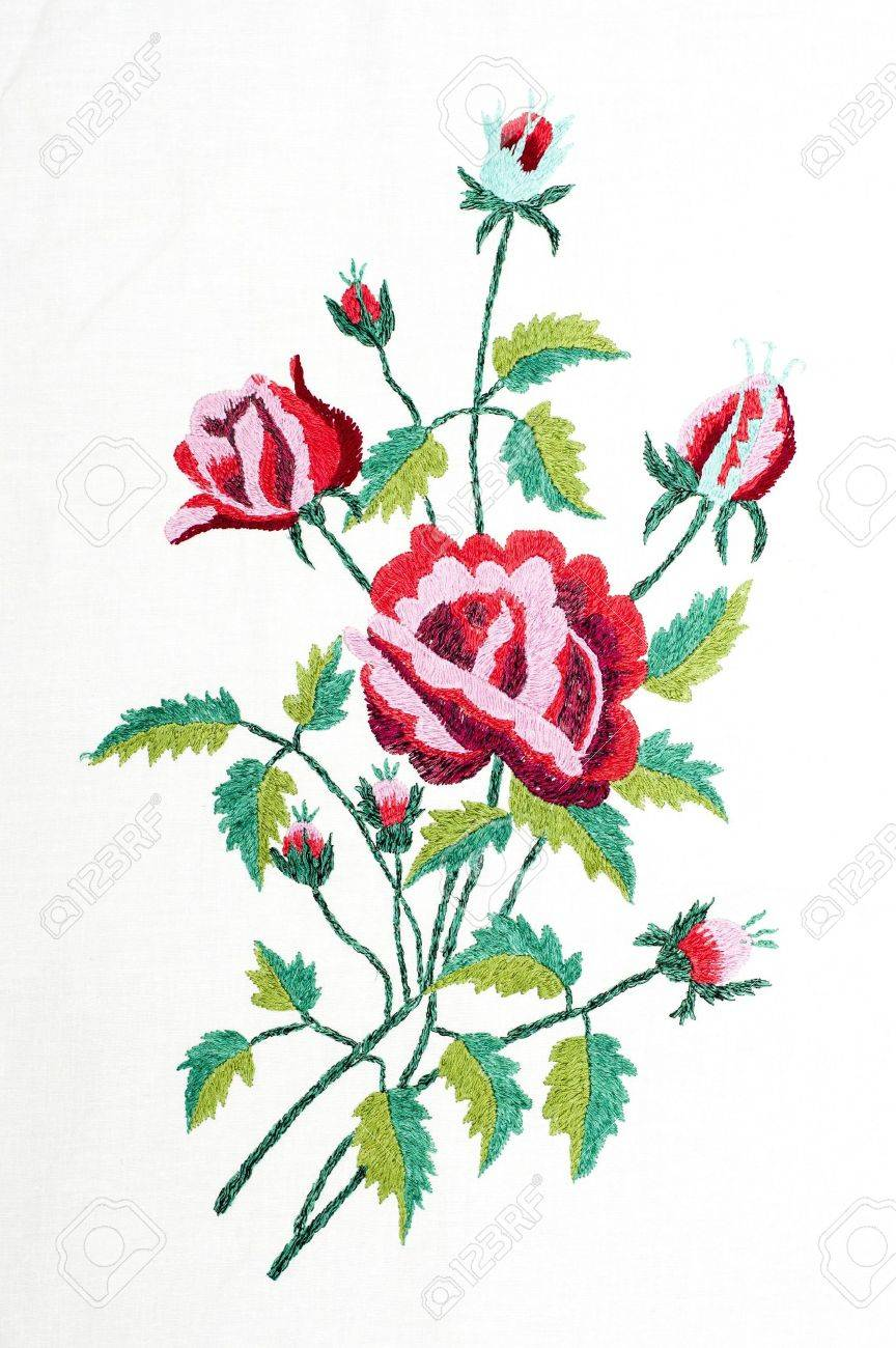 embroidered handmade good like flower Stock Photo - 6694540