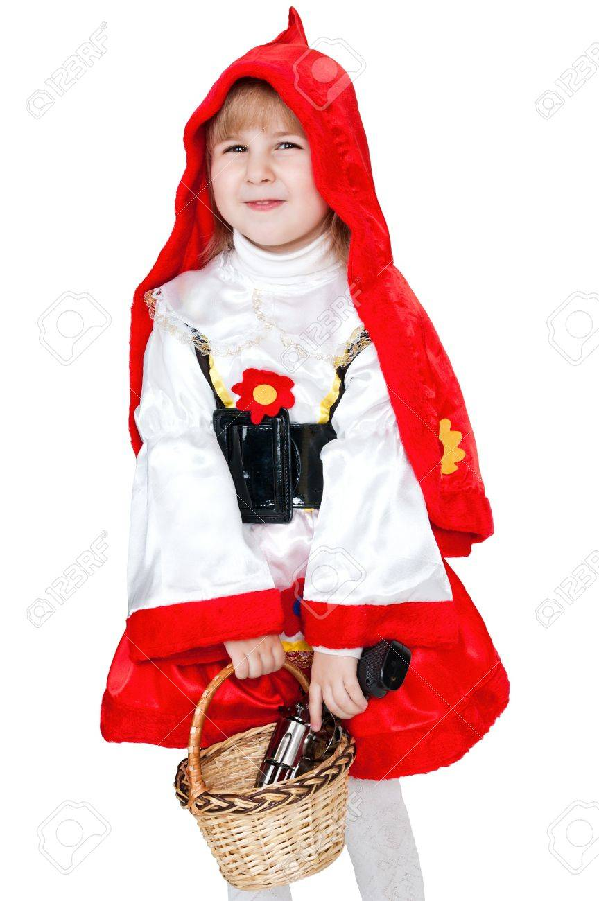 modern Little Red Riding Hood with gun Stock Photo - 6965539