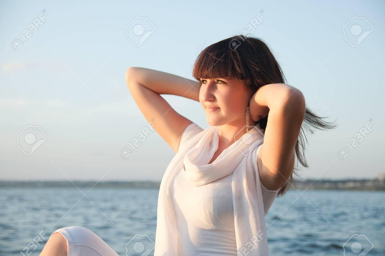 a beautiful young woman taking in the sun Stock Photo - 7804329