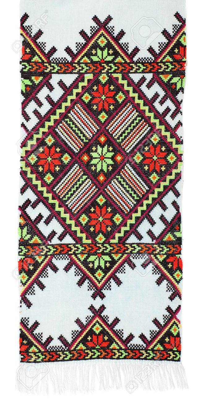 embroidered good by cross-stitch pattern. ethnic colorful pattern Stock Photo - 8949155