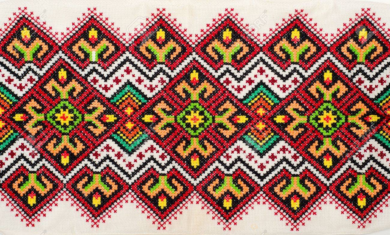 embroidered good by cross-stitch pattern. ukrainian ethnic ornament Stock Photo - 10248377