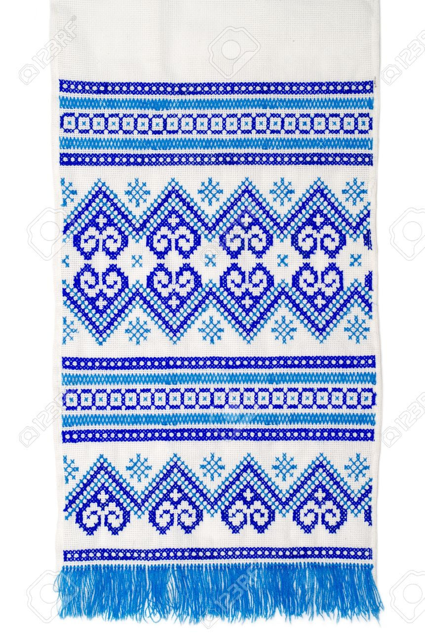 Embroidered Good By Cross Stitch Pattern Ukrainian Ethnic Ornament Stock Photo Picture And Royalty Free Image Image 13029605