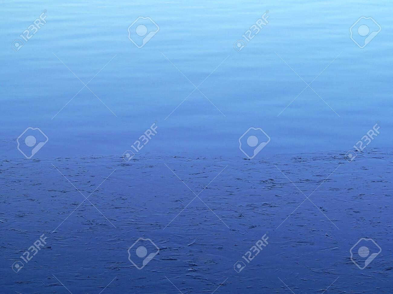 Ice on a blue water. Stock Photo - 4086714