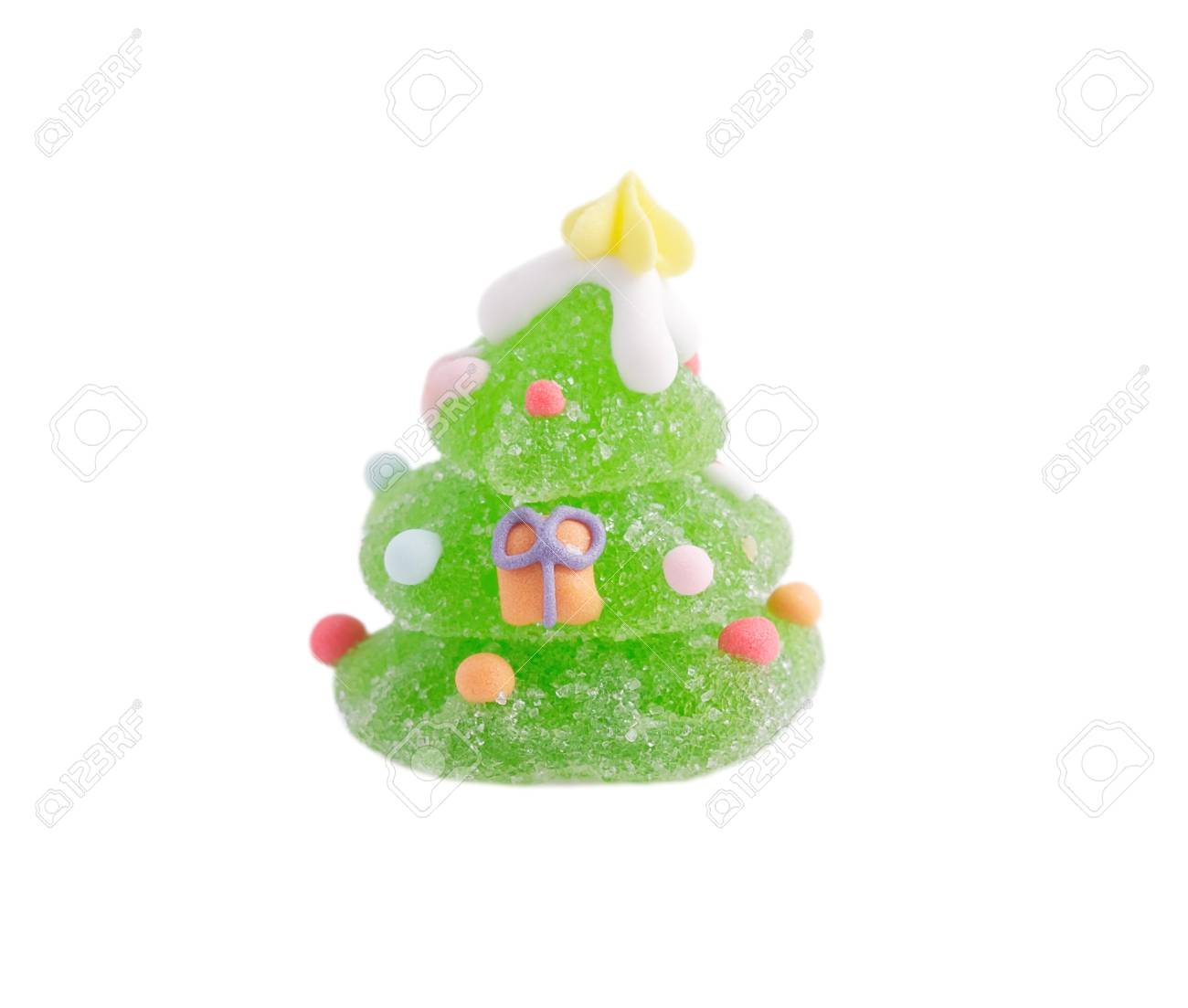 Christmas fruit jelly on white. Stock Photo - 11279779